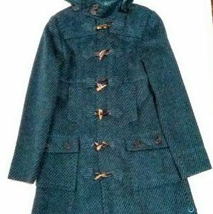 Vintage Stussy Teal Stripped Duffle Coat